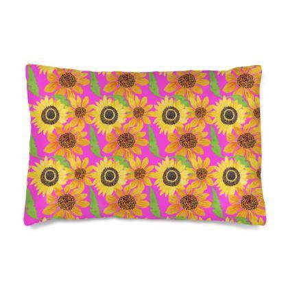 Naive Sunflowers On Fuchsia Naive Sunflowers On Fuchsia