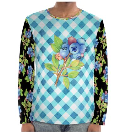 Blueberry Gingham Long Sleeve Shirt