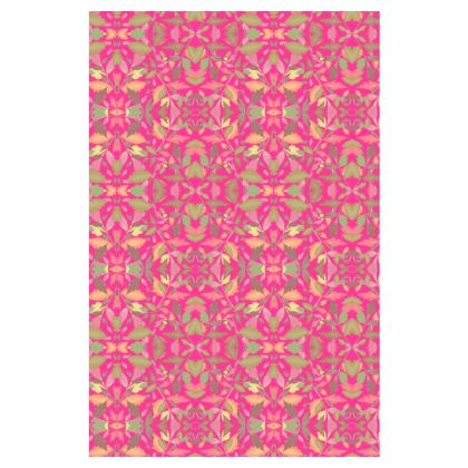 Pink Slip Dress  Cathedral Leaves  Peony