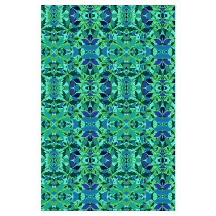 Emerald Green Slip Dress   Diamond Leaves  Rainforest
