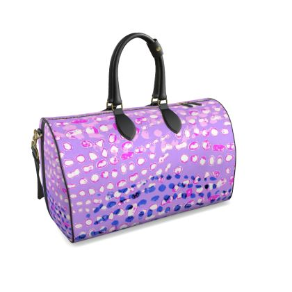 Textural Collection multicolored in mauve and blue Duffle Bag