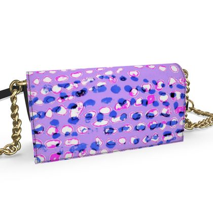 Textural Collection multicolored in mauve and blue Oana Evening Bag