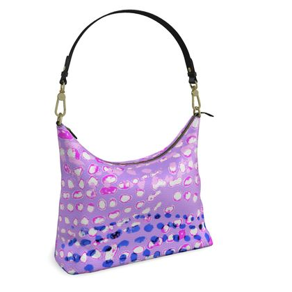 Textural Collection multicolored in mauve and blue Square Hobo Bag