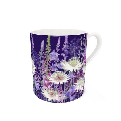 Bone China Mug - Midnight Garden of Wonder