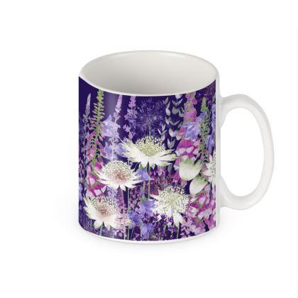 Ceramic Mug - Midnight Garden of Wonder