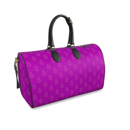 Paisley Drops on purple Duffle Bag