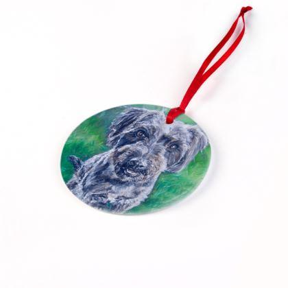 Poppy the Jack-a-Poo Christmas Ornament