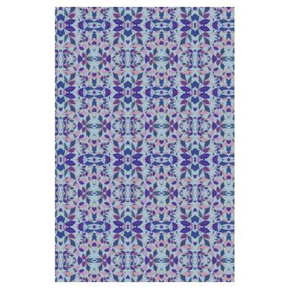 Blue Slip Dress  Diamond Leaves  Lagoon