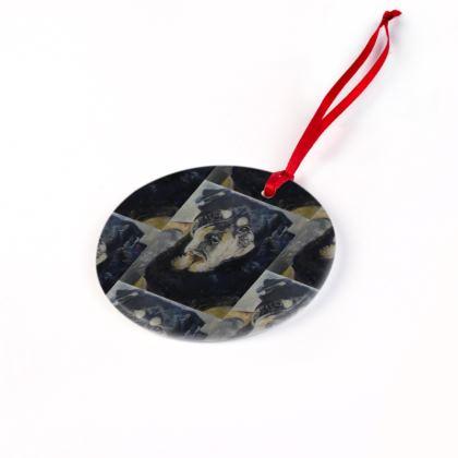 Xena the Rottweiler Christmas Ornament