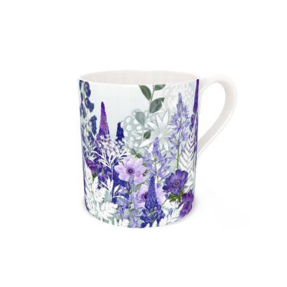 Regular Bone China Mug - Daydream in Blue