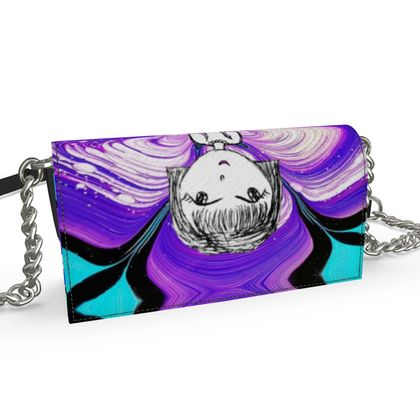 Aria Purple Girl by Elisavet Oana Evening Bag