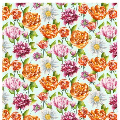 Painted Cushion - Bright Blossom