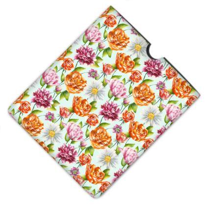 Leather iPad Case - Bright Blossom