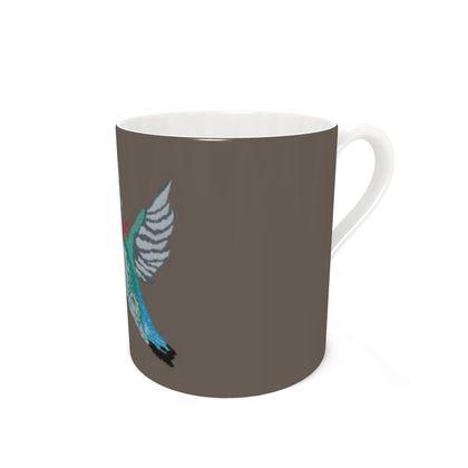 Bee Hummingbird [COFFEE BROWN] Coffee Mugs