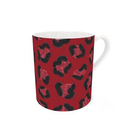 Strawberry Leopard Print Coffee Mug