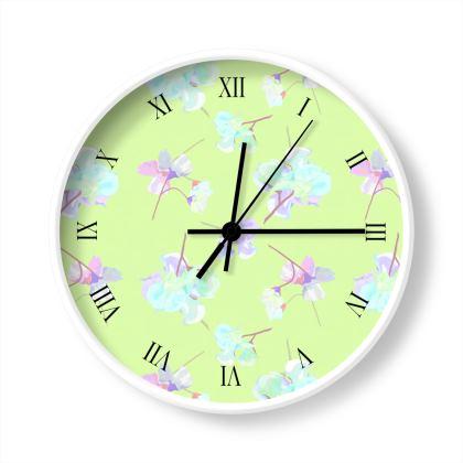 Green Wall Clocks  My Sweet Pea  Soft Pale Green
