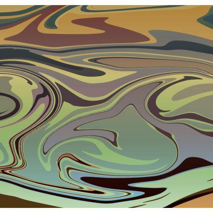 Mens Swimming Shorts - Marble Rainbow 2