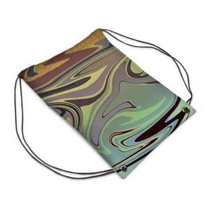 Swim Bag - Marble Rainbow 2