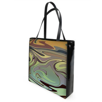 Beach Bag - Marble Rainbow 2