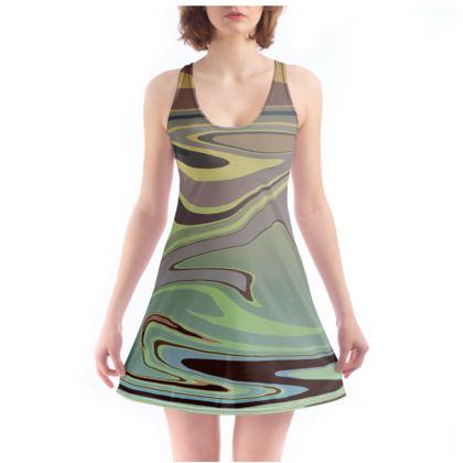 Beach Dress - Marble Rainbow 2