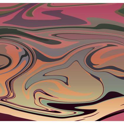 Mens Swimming Shorts - Marble Rainbow 3