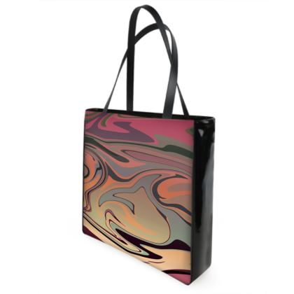Beach Bag - Marble Rainbow 3