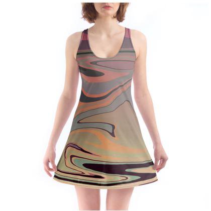 Beach Dress - Marble Rainbow 3