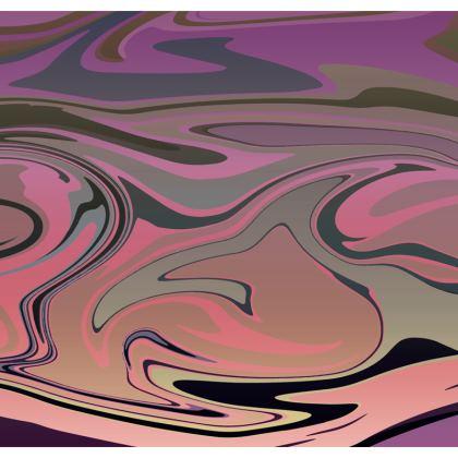 Mens Swimming Shorts - Marble Rainbow 4