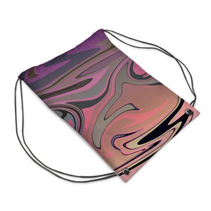 Swim Bag - Marble Rainbow 4