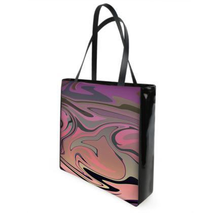 Beach Bag - Marble Rainbow 4
