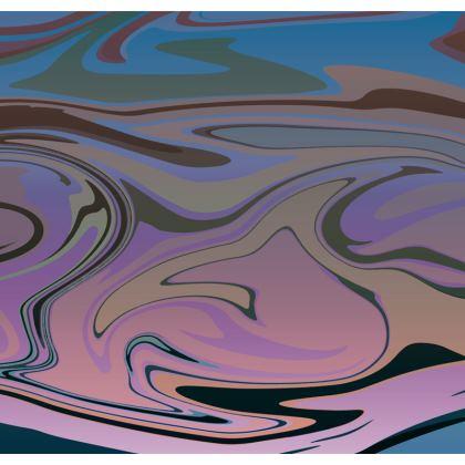 Mens Swimming Shorts - Marble Rainbow 5
