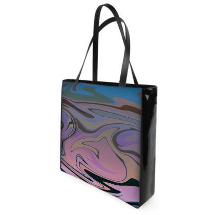 Beach Bag - Marble Rainbow 5