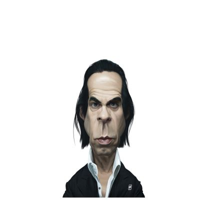 Nick Cave Celebrity Caricature Ladies Cut and Sew Vest