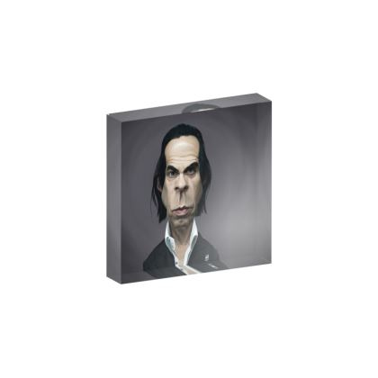 Nick Cave Celebrity Caricature Acrylic Photo Blocks