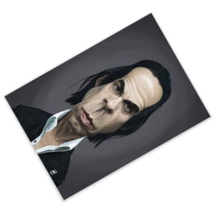 Nick Cave Celebrity Caricature Postcard