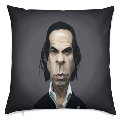 Nick Cave Celebrity Caricature Cushion