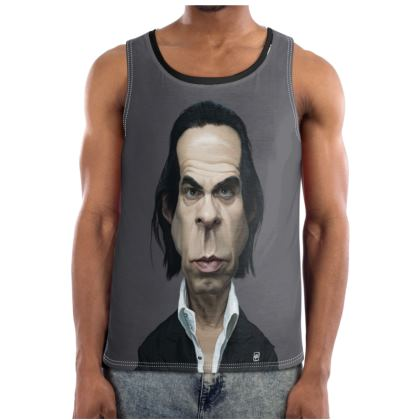 Nick Cave Celebrity Caricature Cut and Sew Vest