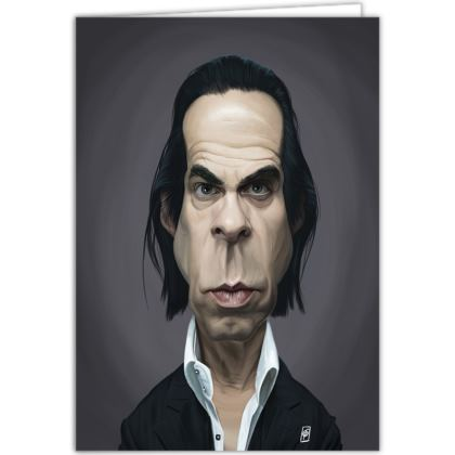 Nick Cave Celebrity Caricature Occasions Cards