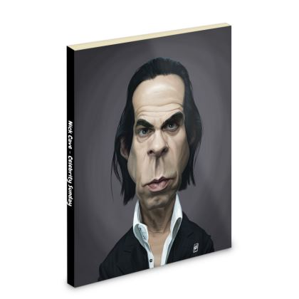Nick Cave Celebrity Caricature Pocket Note Book