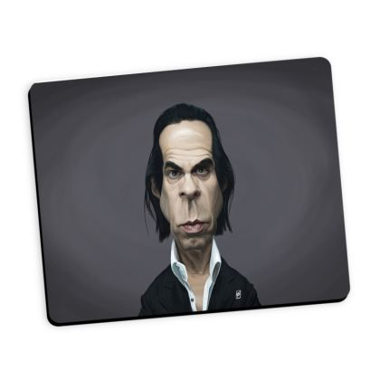 Nick Cave Celebrity Caricature Mouse Mat