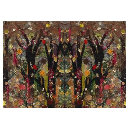 Forest Totem Design Zip Top Handbag