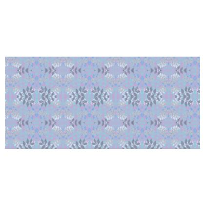 Blue Tablecloth [140cm square]   Etched Leaves  Blue Glade