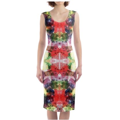 Full Spectrum Kaleidoscope Bodycon Dress