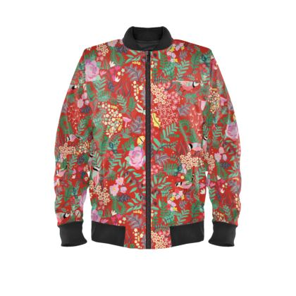 The Secret Garden - Daring Red Ladies Bomber Jacket