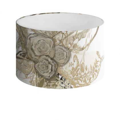 Drum Lamp Shade - Lampskärm - 50 shades of lace white