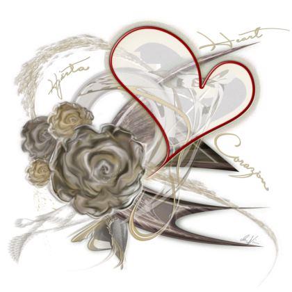 Cushion - Kudde - Brown heart