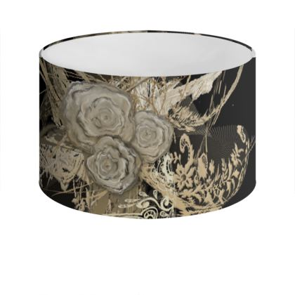 Drum Lamp Shade - Lampskärm - 50 shades of lace black
