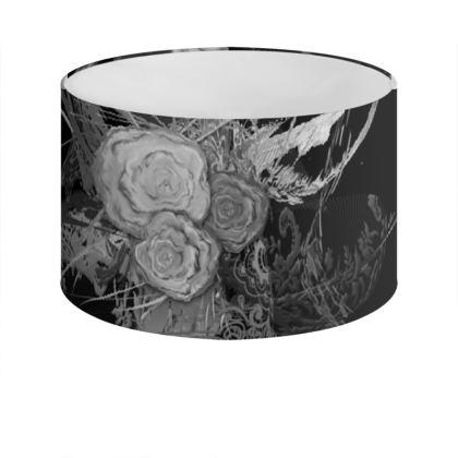 Drum Lamp Shade - Lampskärm - 50 shades of lace grey black