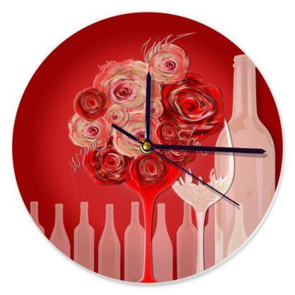 Clock - Klocka - Wine