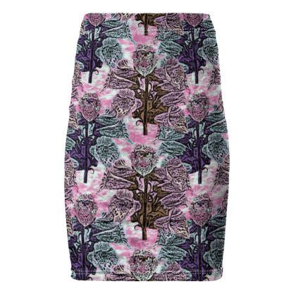 Pink, Teal,  Pencil Skirt  Shortcake